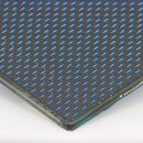 Carbon Sheet/Plate Plain blue - 2,5mm 495x495mm