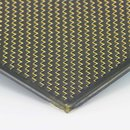 Carbon Sheet/Plate Plain gold - 2mm 150x340mm