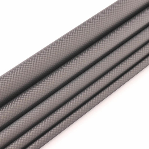 Carbon CFK Rohr Leinwand matt - 32/35mm - 0,5m