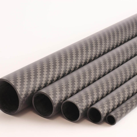 Carbon Tube Twill matte